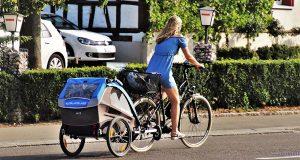 Vélo-électrique-Remorque-Ville